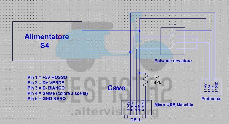 Schema Elettrico Micro Usb : Schema connettore micro usb elettrico